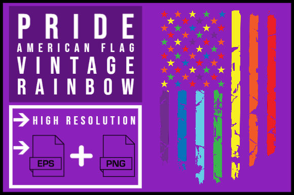 Print on Demand: Pride 2020 American Flag Gay LGBT Graphic Illustrations By smnlbr34