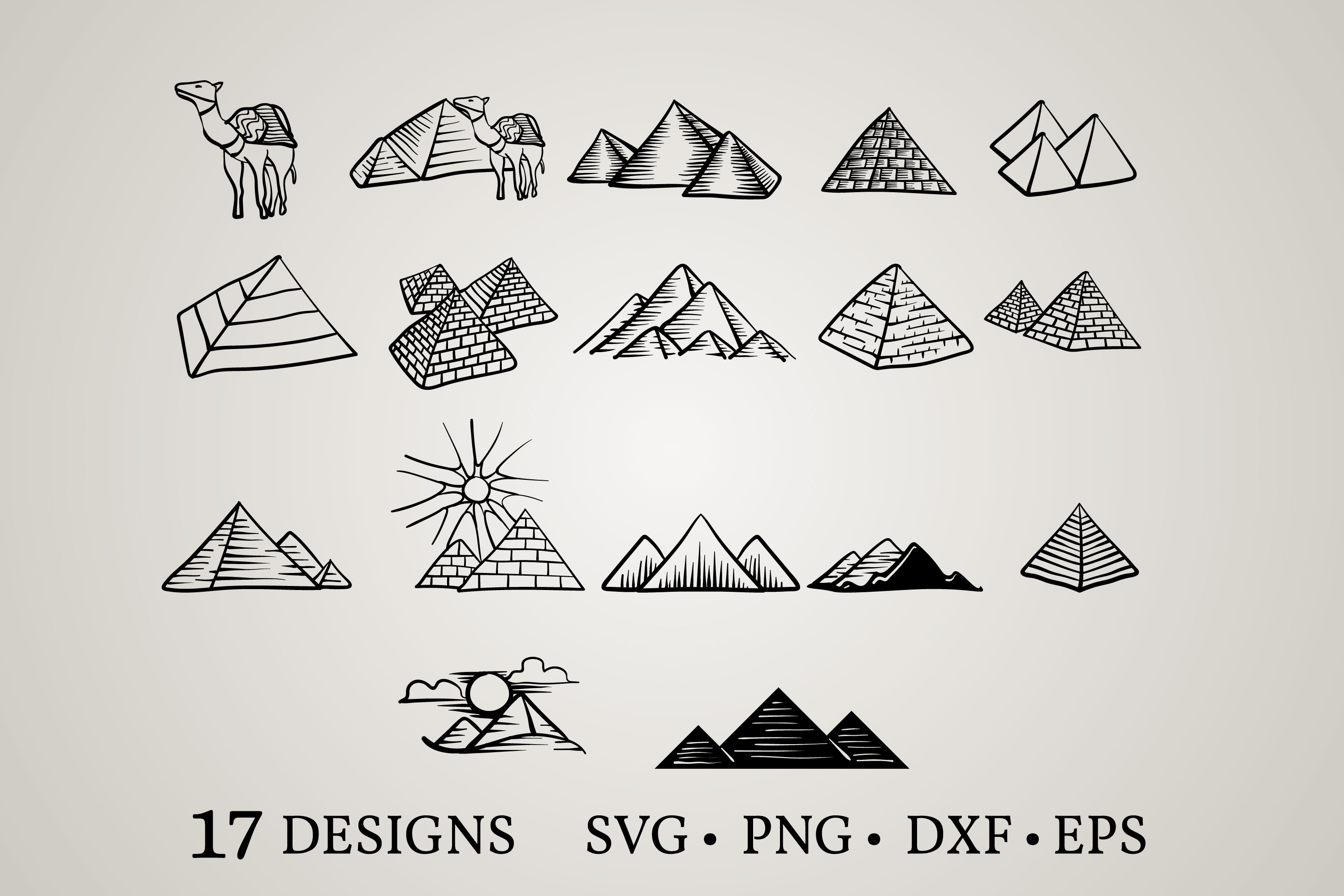 Download Free Pyramid Bundle Graphic By Euphoria Design Creative Fabrica for Cricut Explore, Silhouette and other cutting machines.