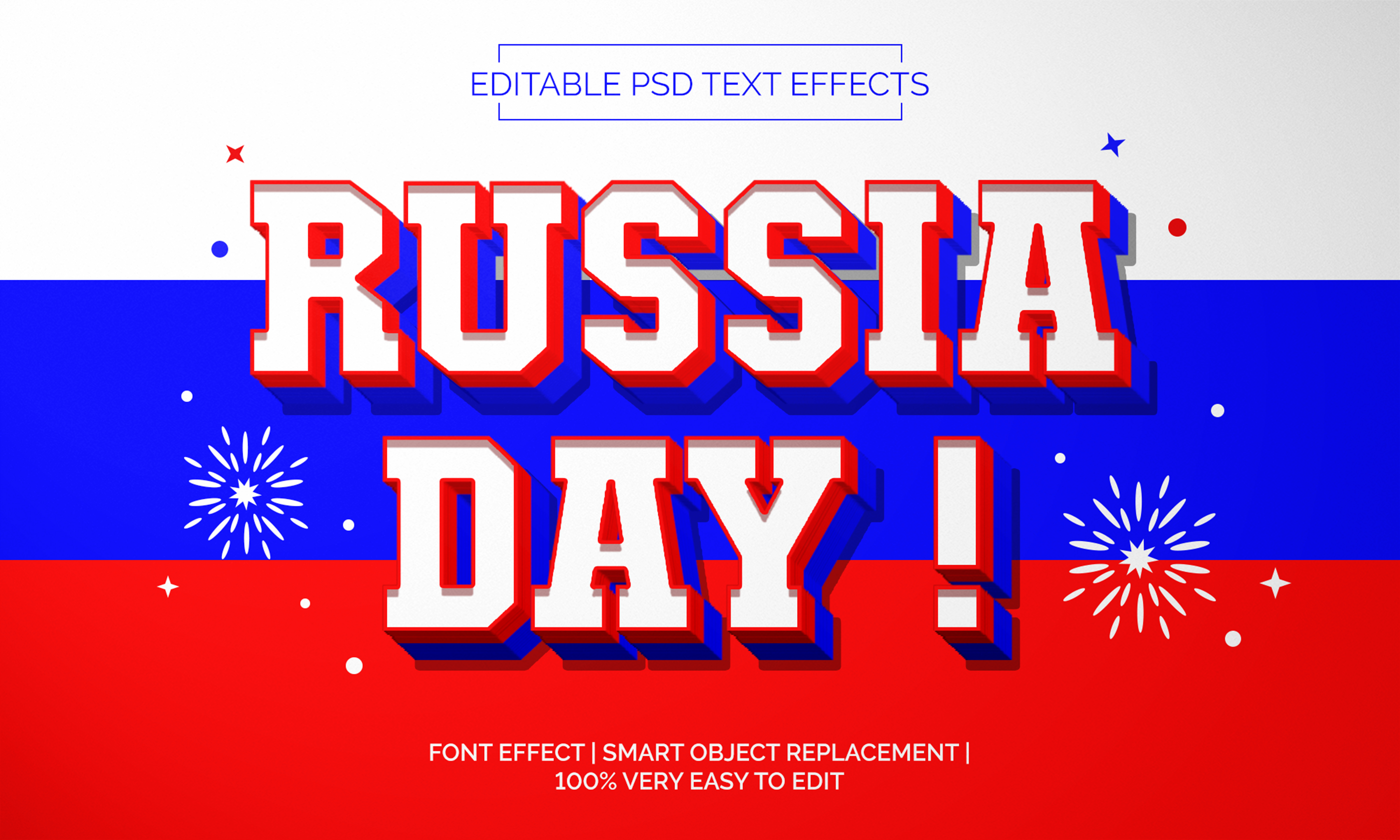 Download Free Russia Day Text Effects Style Graphic By Neyansterdam17 for Cricut Explore, Silhouette and other cutting machines.