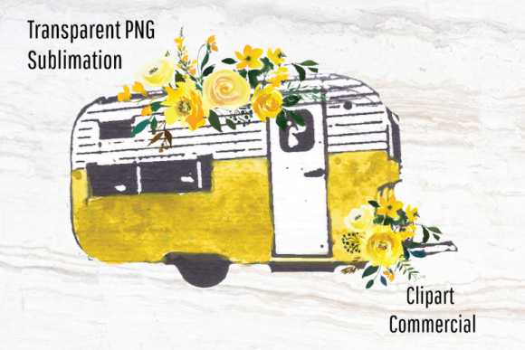 Download Free Retro Camper Vintage Trailer Clipart Graphic By Blueberry Jam for Cricut Explore, Silhouette and other cutting machines.