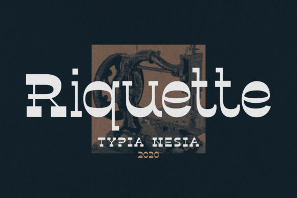 Print on Demand: Riquette Slab Serif Font By Typia Nesia - Image 1