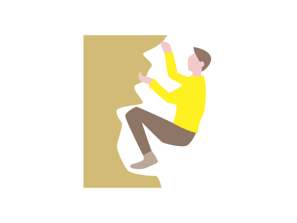 Download Free Rock Climbing Extreme Sport Color Icon Graphic By 1riaspengantin for Cricut Explore, Silhouette and other cutting machines.