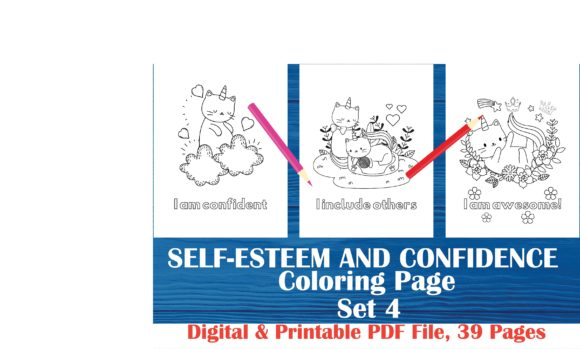 Self Esteem And Confidence Coloring Book Graphic By