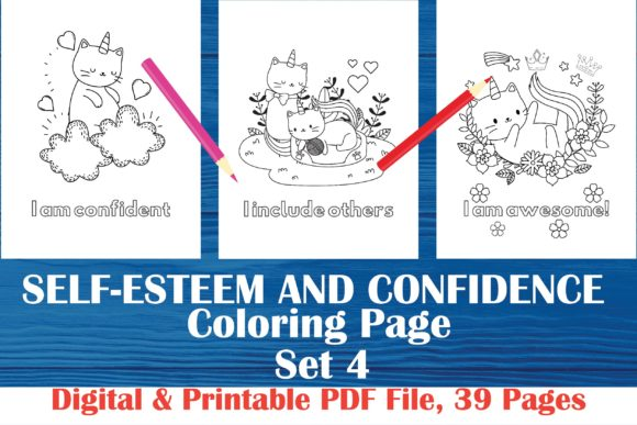 Download Free Self Esteem And Confidence Coloring Book Graphic By Midasstudio for Cricut Explore, Silhouette and other cutting machines.