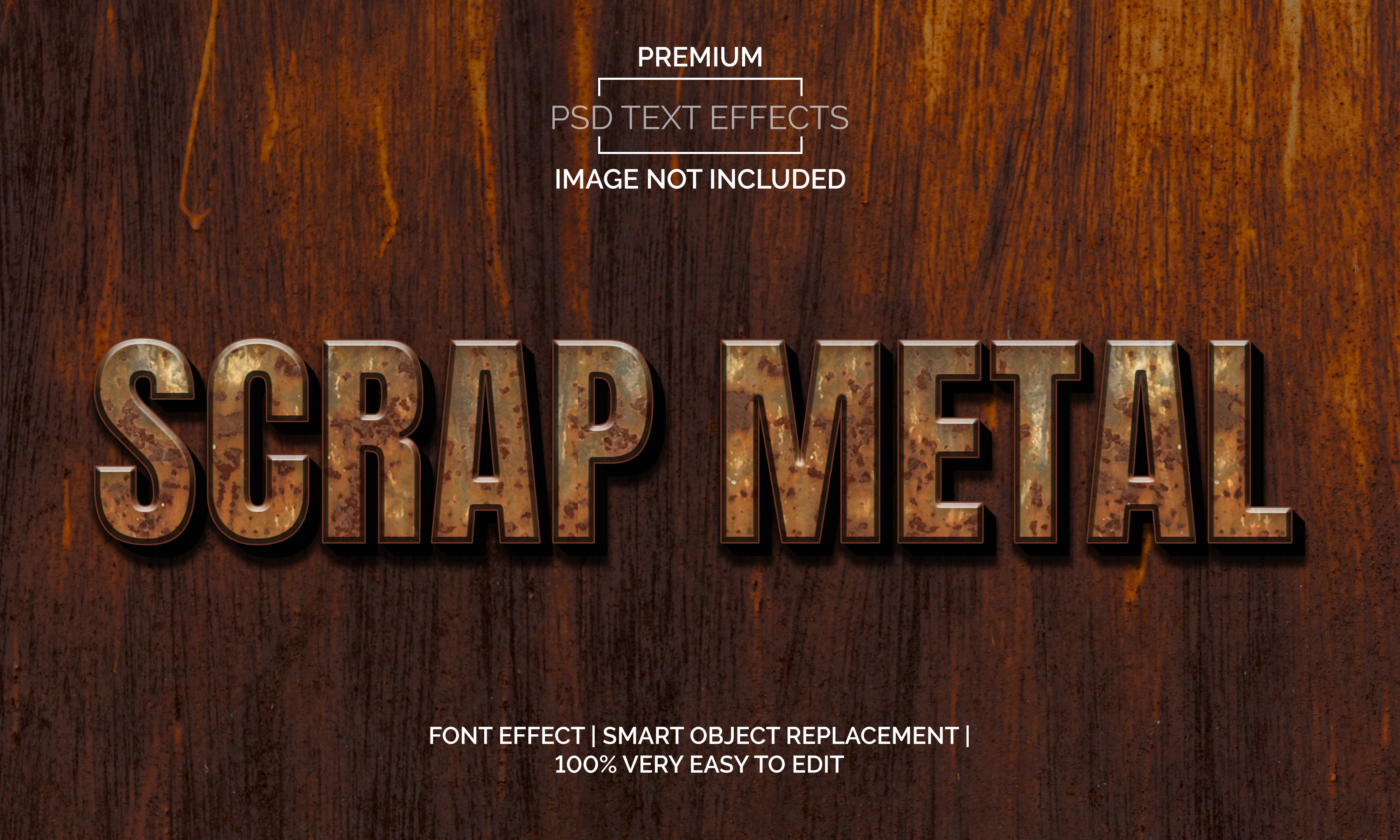 Download Free Scrap Metal Text Effects Style Graphic By Neyansterdam17 for Cricut Explore, Silhouette and other cutting machines.