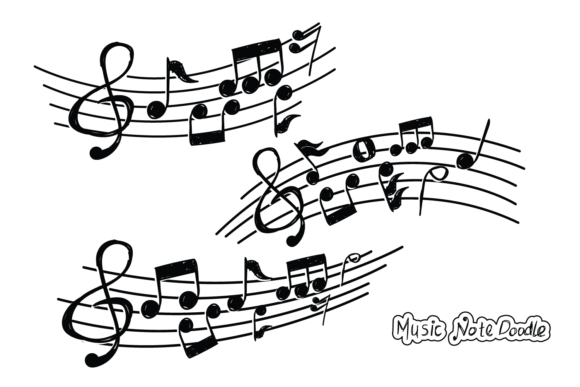 Set of Music Doodle Vector Graphic Illustrations By bayfont