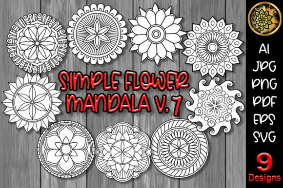 Download Free Mandala Monogram Entangle 3 Graphic By V Design Creator for Cricut Explore, Silhouette and other cutting machines.