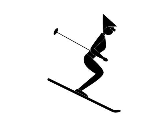 Download Free Ski Extreme Sport Icon Silhouette Graphic By 1riaspengantin for Cricut Explore, Silhouette and other cutting machines.