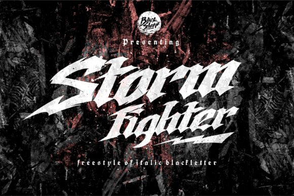 Print on Demand: Storm Fighter Blackletter Font By Blacksheep id