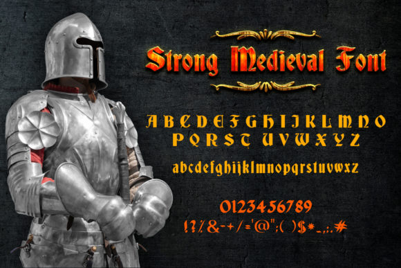 Print on Demand: Strong Medieval Script & Handwritten Font By OWPictures