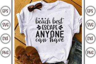 Print on Demand: Summer Beach Design, Beach Best Escape Graphic Print Templates By GraphicsBooth