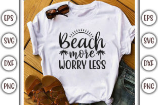 Print on Demand: Summer Beach Design, Beach More Worry Graphic Print Templates By GraphicsBooth
