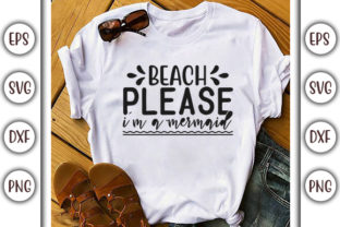 Print on Demand: Summer Beach Design, Beach Please Graphic Print Templates By GraphicsBooth