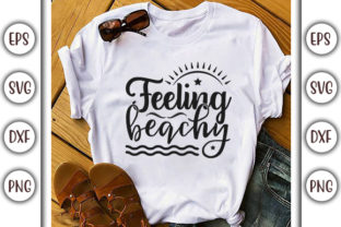 Print on Demand: Summer Beach Design, Feeling Beachy Graphic Print Templates By GraphicsBooth