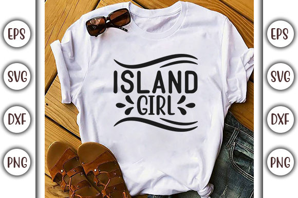 Download Free Summer Beach Design Island Girl Graphic By Graphicsbooth for Cricut Explore, Silhouette and other cutting machines.