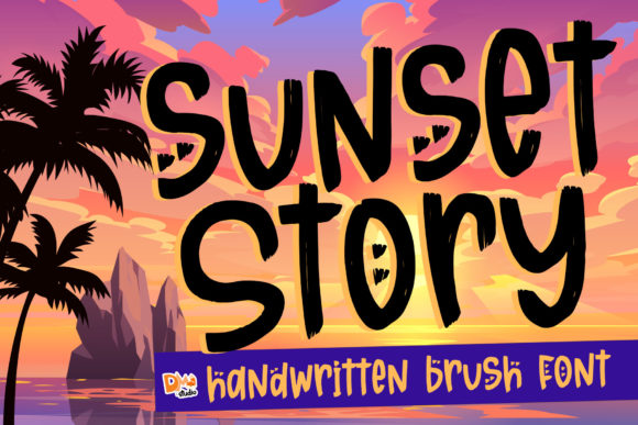 Download Free Sunset Story Font By Dmletter31 Creative Fabrica for Cricut Explore, Silhouette and other cutting machines.