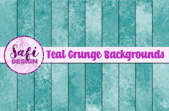 Download Free Teal Grunge Backgrounds Graphic By Safi Designs Creative Fabrica for Cricut Explore, Silhouette and other cutting machines.