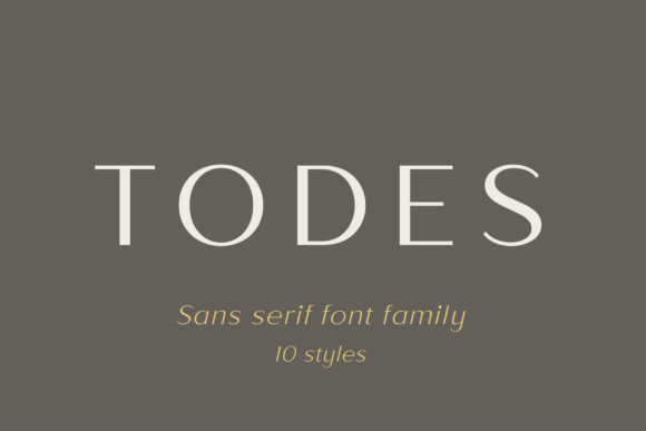Print on Demand: Todes Sans Serif Font By Pasha Larin