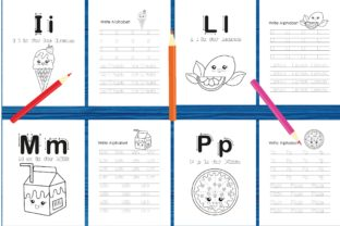 Tracing Alphabet Coloring Book Set 2 Graphic Coloring Pages & Books Kids By MidasStudio 2