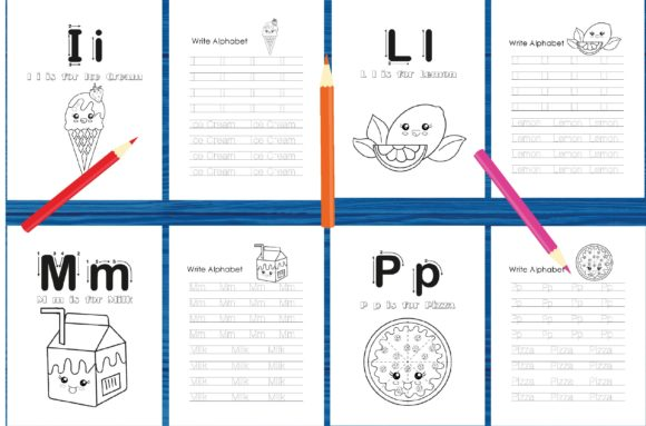 Tracing Alphabet Coloring Book Set 2 Graphic Coloring Pages & Books Kids By MidasStudio - Image 2