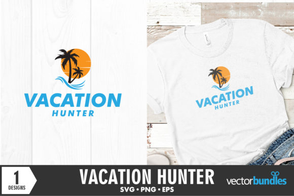 Download Free Vacation Hunter Quote Graphic By Vectorbundles Creative Fabrica for Cricut Explore, Silhouette and other cutting machines.