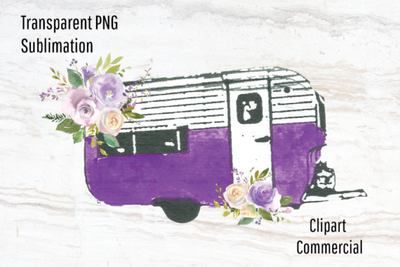 Download Free Vintage Camper Clipart Sublimation Graphic By Blueberry Jam for Cricut Explore, Silhouette and other cutting machines.