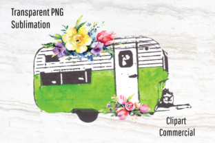 Download Free Vintage Camper Trailer Sublimation Graphic By Blueberry Jam for Cricut Explore, Silhouette and other cutting machines.