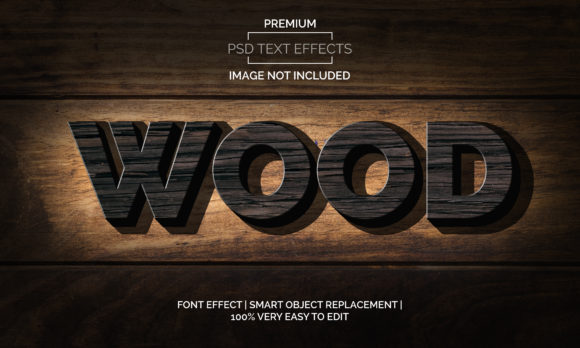 Download Free Wood Text Effects Style Graphic By Neyansterdam17 Creative Fabrica for Cricut Explore, Silhouette and other cutting machines.