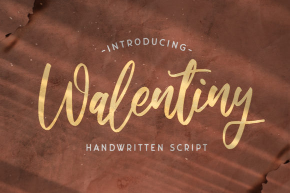 Print on Demand: Walentiny Script & Handwritten Font By StringLabs