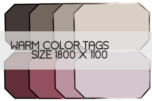 Download Free Warm Color Tags Graphic By Denise Creationz Creative Fabrica for Cricut Explore, Silhouette and other cutting machines.