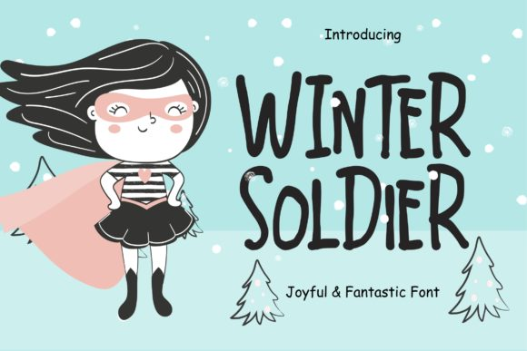 Print on Demand: Winter Soldier Display Font By CreatypeStudio