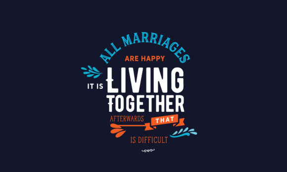 Download Free Living Together Afterwards Graphic By Baraeiji Creative Fabrica for Cricut Explore, Silhouette and other cutting machines.