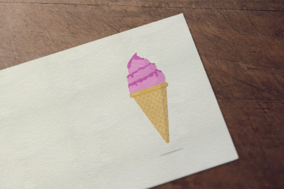 Download Free Strawberry Ice Cream Graphic By Sabavector Creative Fabrica for Cricut Explore, Silhouette and other cutting machines.