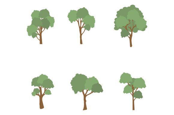 Download Free Tree Cartoon Collection Graphic By Curutdesign Creative Fabrica for Cricut Explore, Silhouette and other cutting machines.