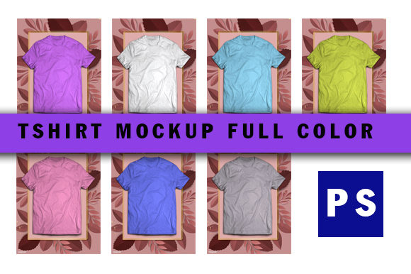 Tshirt Mockup Blank Full Color Graphic Product Mockups By ahmaddesign99