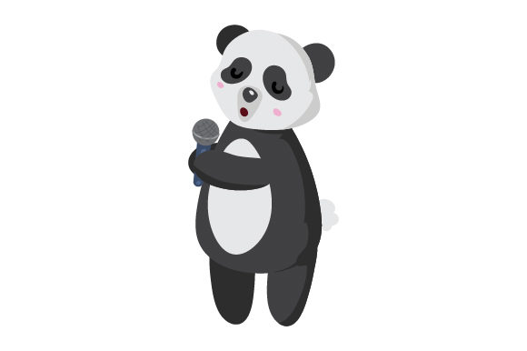 Download Free Panda Singer Svg Cut File By Creative Fabrica Crafts Creative for Cricut Explore, Silhouette and other cutting machines.