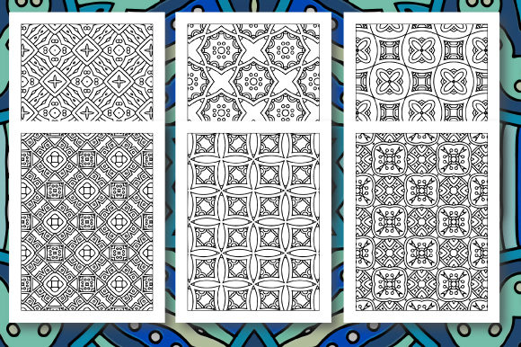 Print on Demand: 35 Geometric Pattern Coloring Set 5 Graphic Coloring Pages & Books Adults By JM_Graphics - Image 2