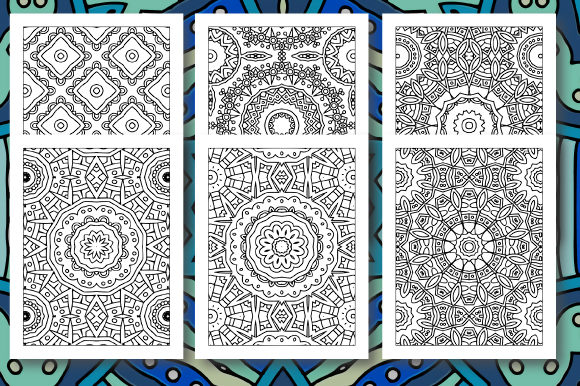 Print on Demand: 35 Geometric Pattern Coloring Set 5 Graphic Coloring Pages & Books Adults By JM_Graphics - Image 3
