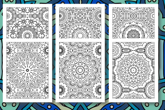 Print on Demand: 35 Geometric Pattern Coloring Set 5 Graphic Coloring Pages & Books Adults By JM_Graphics - Image 4