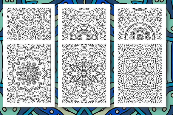 Print on Demand: 35 Geometric Pattern Coloring Set 5 Graphic Coloring Pages & Books Adults By JM_Graphics - Image 5