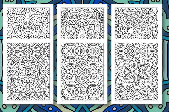 Print on Demand: 35 Geometric Pattern Coloring Set 5 Graphic Coloring Pages & Books Adults By JM_Graphics - Image 6