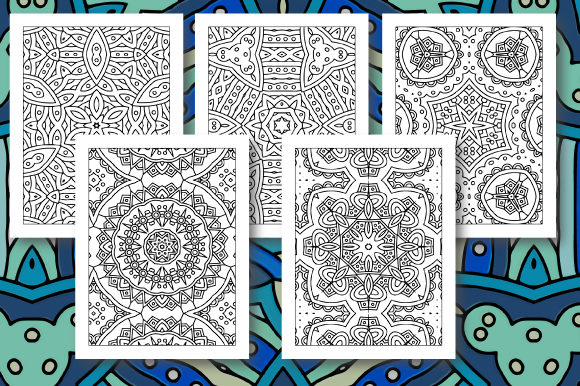 Print on Demand: 35 Geometric Pattern Coloring Set 5 Graphic Coloring Pages & Books Adults By JM_Graphics - Image 7