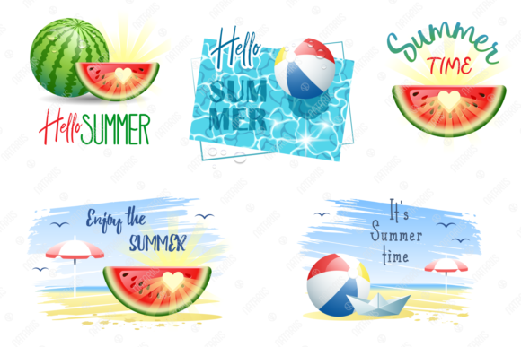5 Summer Time Concept Illustration Graphic Illustrations By Natariis Studio