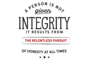 Print on Demand: A Person is Not Given Integrity Graphic Illustrations By baraeiji