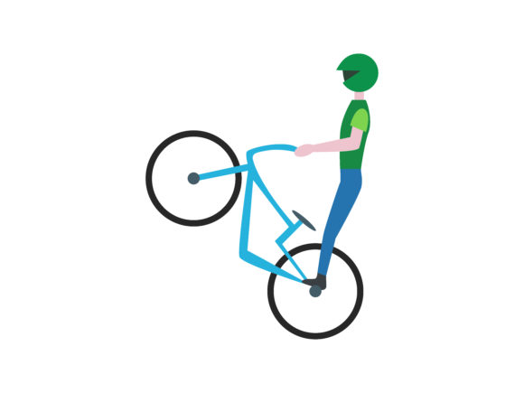 Download Free Bmx Bicycle Extreme Sport Color Icon Graphic By 1riaspengantin for Cricut Explore, Silhouette and other cutting machines.