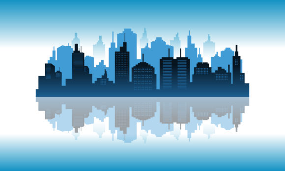 Download Free Background Reflection In The Downtown Graphic By Cityvector91 for Cricut Explore, Silhouette and other cutting machines.
