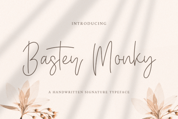 Print on Demand: Baster Monky Script & Handwritten Font By StringLabs