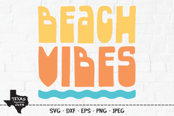 Download Free Beach Vibes Summer Shirt Design Graphic By Texassoutherncuts for Cricut Explore, Silhouette and other cutting machines.