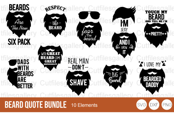 Beard Quote Bundle Svg Father Day Svg Graphic By