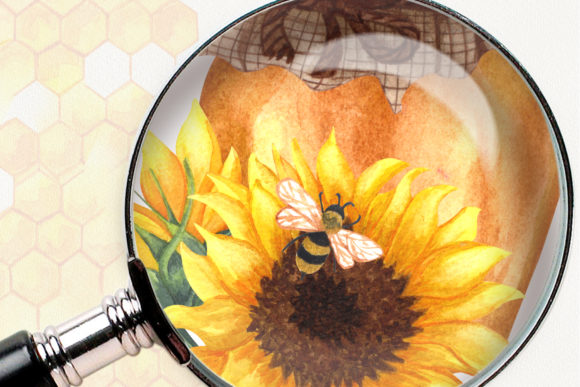 Bee Honey Watercolor Clip Art Graphic Illustrations By BarvArt - Image 13